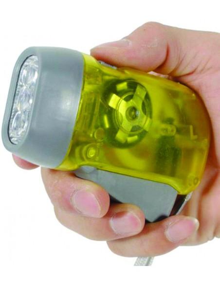 Lampe de poche dynamo à 3 LED IN322 Torches LED Velamp