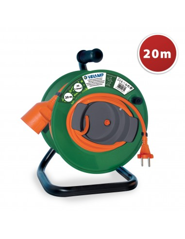Garden cable reel 20 meters, 2G1.5 REEL-22G Velamp Garden electrical cable reels and extensions