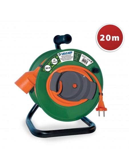 Rallonge électrique de jardin 20 mètres avec enrouleur, câble 2G1.5 REEL-22G Enrouleurs et rallonges électriques de jardin Ve...