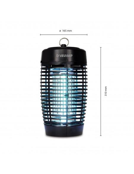 Mosquitera eléctrica IPX4, con lámpara UV, 19W MK174E Velamp Red mosquito eléctrico