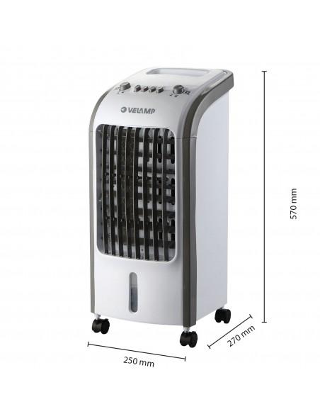 Enfriador evaporativo de 75W, 3 velocidades. Blanco COOLER34 Velamp Enfriadores de aire