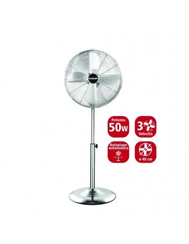 40 cm stand fan in chromed metal. 3 speeds VENT-M40C4 Velamp Pedestal fans