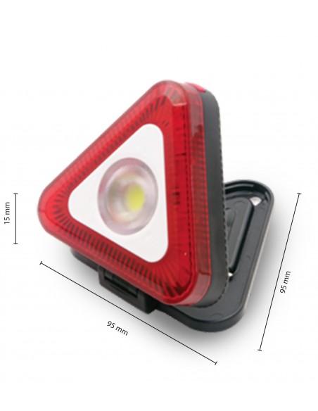 Triangolo luminoso LED con torcia e calamita. 3AAA non incluse IS419 Lampade da lavoro ricaricabili e a pile Velamp