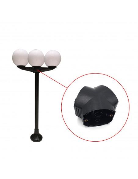 Connettore a palo per 3 sfere APOLUX SPH183 Accessori per sfere apolux Velamp