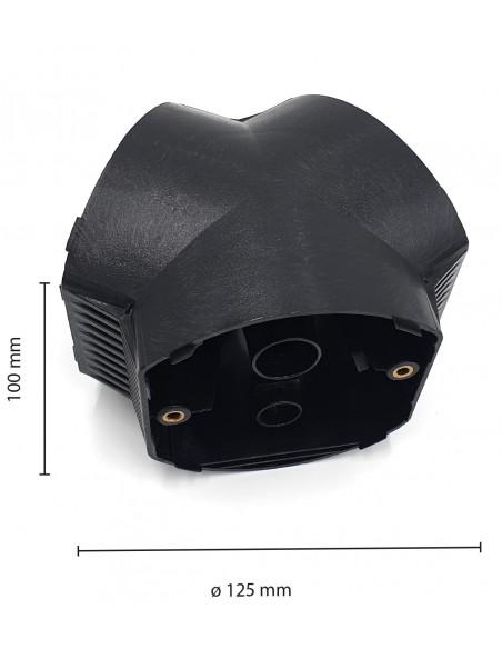 Conector de polo para 3 esferas APOLUX SPH183 Velamp Accesorios para lámparas esféricas APOLUX