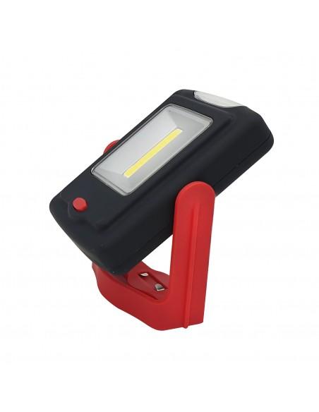 Torcia LED con panello COB 3W. Gancio e magnete. 3 AAA non incl. DL104 Torce LED Velamp