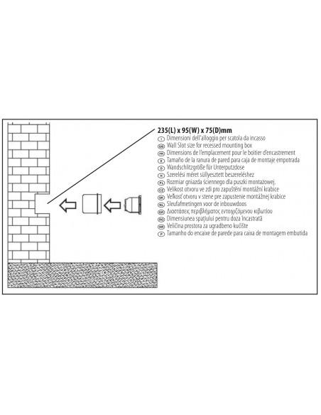 BRICK: Außeneinbaustrahler E27 aus Aluminium. Schwarz IS720 Ovale Deckenleuchten Velamp