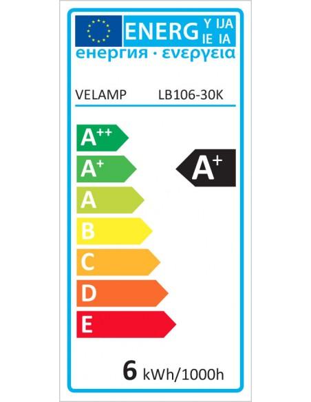 Bombilla LED SMD, foco GU10, 230V, 6W / 470lm, 3000K, 120 ° LB106-30K Velamp Da classificare