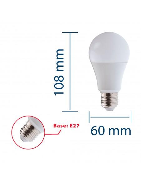 Lampadina SMD LED, Goccia A60, 9W/806lm, base E27, 3000K LB209S-30K Da classificare Velamp
