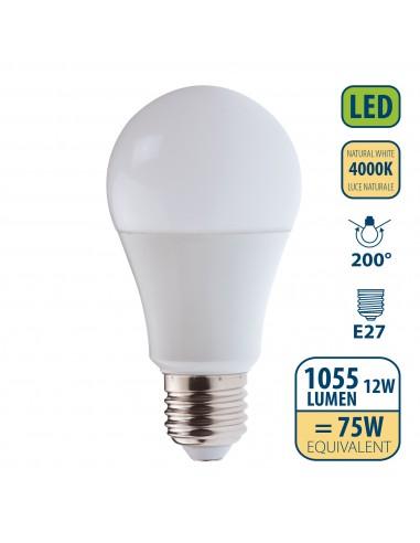 Lampadina SMD LED, Goccia A60, 12W/1055lm, base E27, 4000K LB212S-40K Da classificare