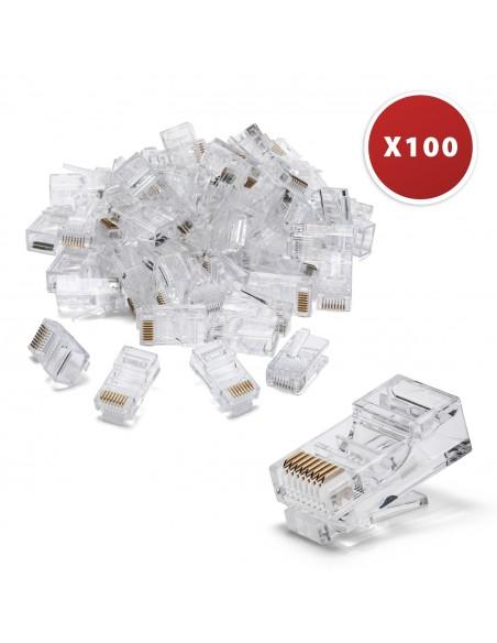 100 Anschlüsse zum Crimpen von CAT6 UTP LANC6U-100 UTP / FTP-Kabel und Zubehör Velamp