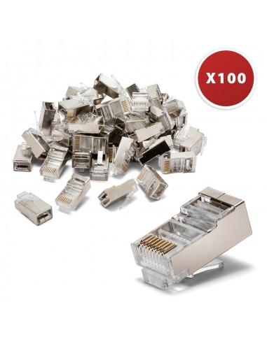 100 connecteurs à sertir CAT6 FTP - Blindés LANC6F-100 Cables UTP / FTP et accessoires Velamp
