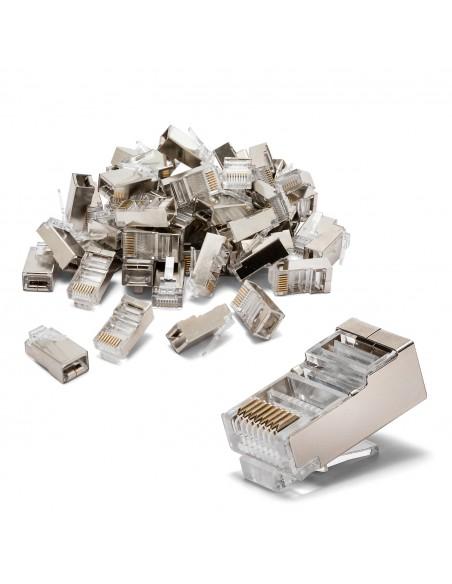100 connettori da crimpare CAT6 FTP - Schermati LANC6F-100 Cavi di rete UTP / FTP e accessori Velamp