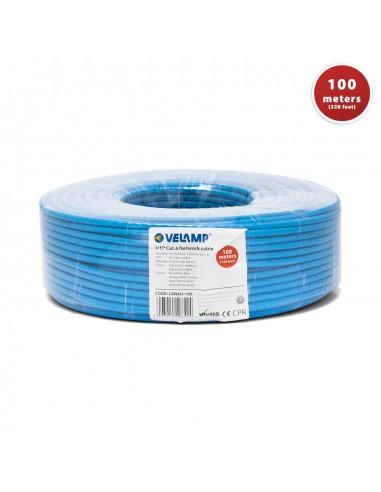 Câble réseau CAT6 UTP 100mt en bobine, certifié CPR LAN6U-100 Cables UTP / FTP et accessoires Velamp
