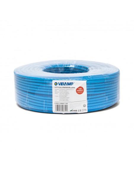 Cable de red CAT6 UTP 100mt en bobina LAN6U-100 Velamp Cables UTP / FTP y accesorios
