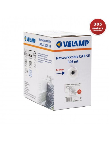 CAT5E UTP 305mt network cable in pull box LAN5EU-305 Velamp UTP / FTP cables and connectors