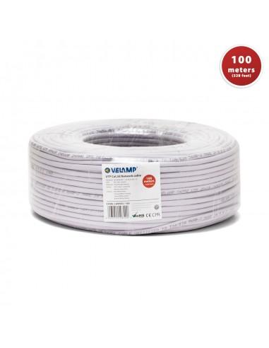 Cable de red CAT5E UTP 100mt en bobina LAN5EU-100 Velamp Cables UTP / FTP y accesorios
