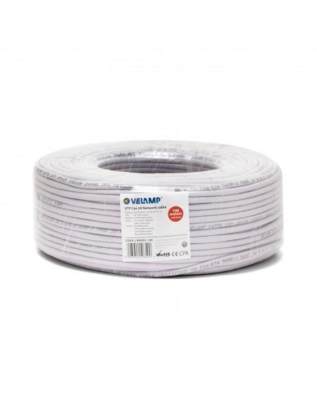 Câble réseau CAT5E UTP 100mt en bobine, certifié CPR LAN5EU-100 Cables UTP / FTP et accessoires Velamp