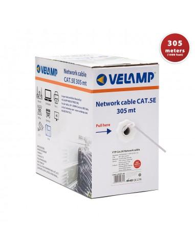Câble réseau CAT5E FTP 305mt en Pull box. Certifié CPR LAN5EF-305 Cables UTP / FTP et accessoires Velamp