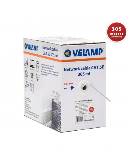 CAT5E FTP 305mt network cable in pull box LAN5EF-305 Velamp UTP / FTP cables and connectors