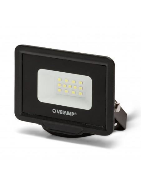 PADLIGHT5, 10W IP65 SMD LED floodlight, black 6500K IS740-5-6500K Velamp LED outdoor floodlights
