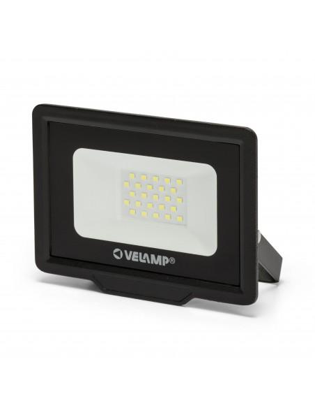 PADLIGHT5, 20W SMD LED floodlight IP65, black 6500K IS745-5-6500K Velamp LED outdoor floodlights