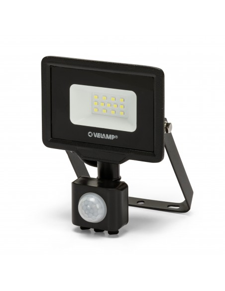 PADLIGHT5, 10W IP44 SMD LED floodlight, black 6500K. With IR IS743-5-6500K Velamp LED outdoor floodlights