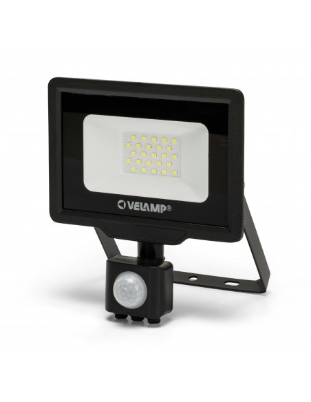 PADLIGHT5, Proyector LED SMD 20W IP44, negro 6500K. Con IR IS748-5-6500K Velamp Proyectores LED para exterior