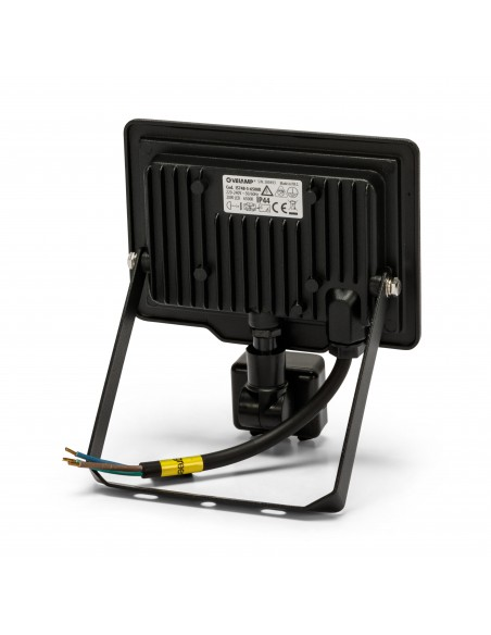 PADLIGHT5, 20W SMD LED floodlight IP44, black 4000K. With IR IS748-5-4000K Velamp LED outdoor floodlights
