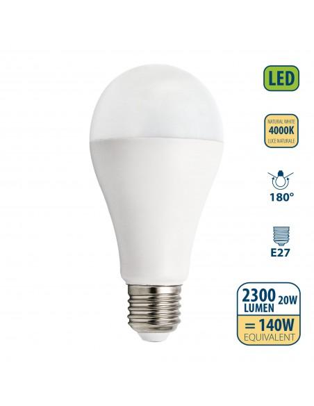 SMD LED Bulb, Drop A65, 20W / 2300lm, E27 base, 4000K LB220S-40K Velamp Da classificare