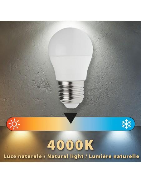 Lampadina SMD LED, Sfera P45, 6W/470lm, base E27, 4000K LB4067S-40K Da classificare Velamp