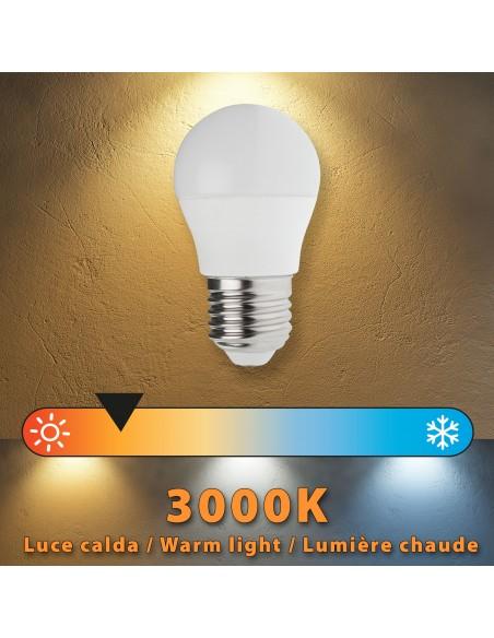 Bombilla LED SMD, esfera P45, 6W / 470lm, base E27, 3000K LB4067S-30K Velamp Da classificare