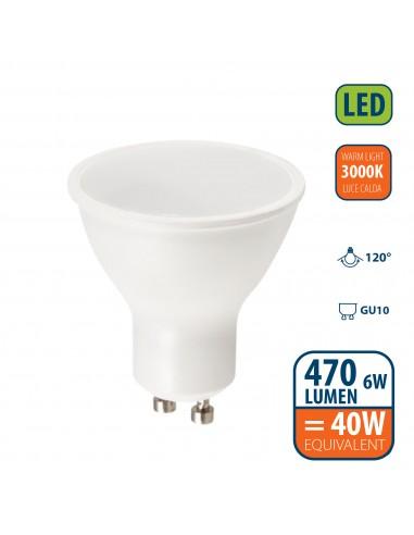 Ampoule LED SMD, spot GU10, 230V, 6W / 470lm, 3000K, 120 ° LB106-30K Da classificare Velamp