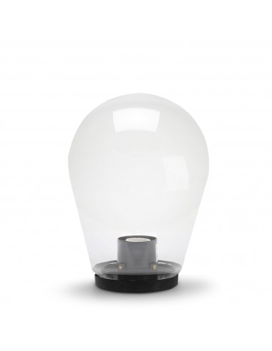Outdoor lamppost in PMMA, 250mm, E27 fitting, transparent SPH253 Velamp APOLUX transparent globes