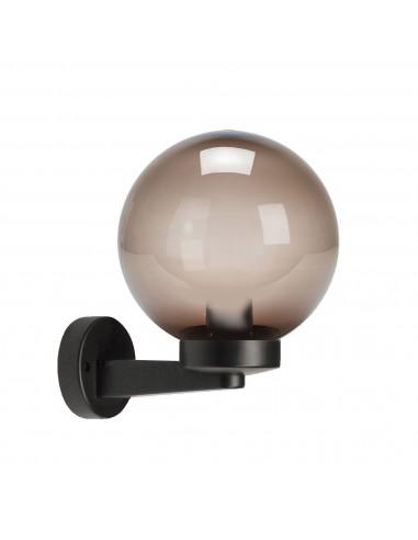 Applique avec sphère pour extérieur en PMMA, 200mm, Culot E27, ambré SPH209P Sphères APOLUX ambrées Velamp