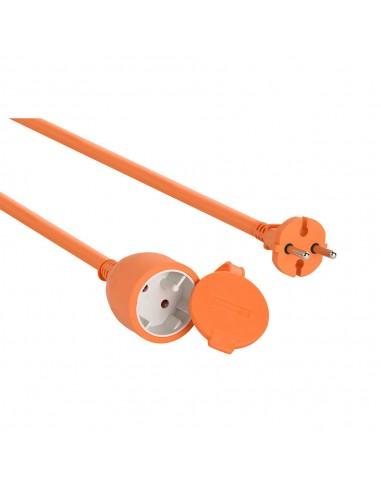 Rallonge de jardin 20mt, fiche européenne et prise 2 pôles, orange PROHD16A-FR-20 Rallonges France Belgique Pologne Velamp