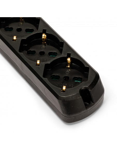 Multipurpose 5-way power strip schuko + 10 / 16a with 1m cable switch and 16a plug MULTIT-I-S50K Velamp Italy multisockets