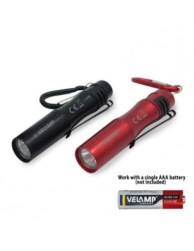Torcia LED con clip e portachiavi in alluminio IN239 Torce LED Velamp
