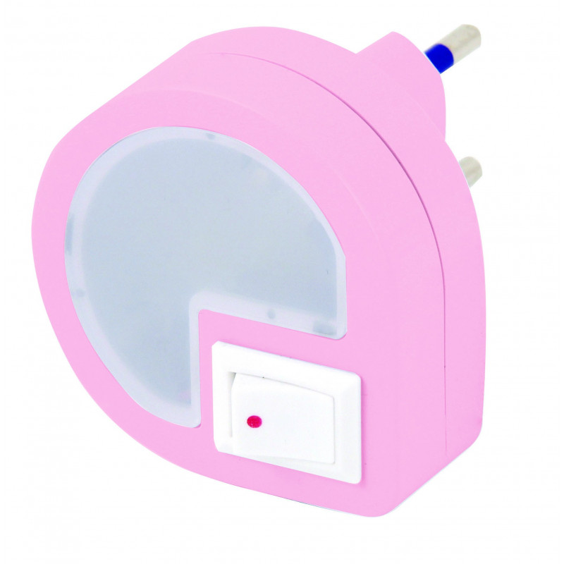 Dropled led night light with on/off switch pink
