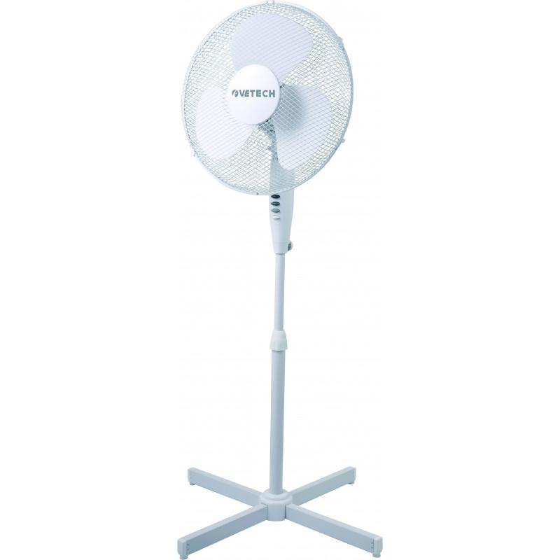 Ventilatore a piantana 40 cm in plastica bianca hurricane 2