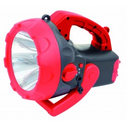 10w led rechargeable spotlight with red blink