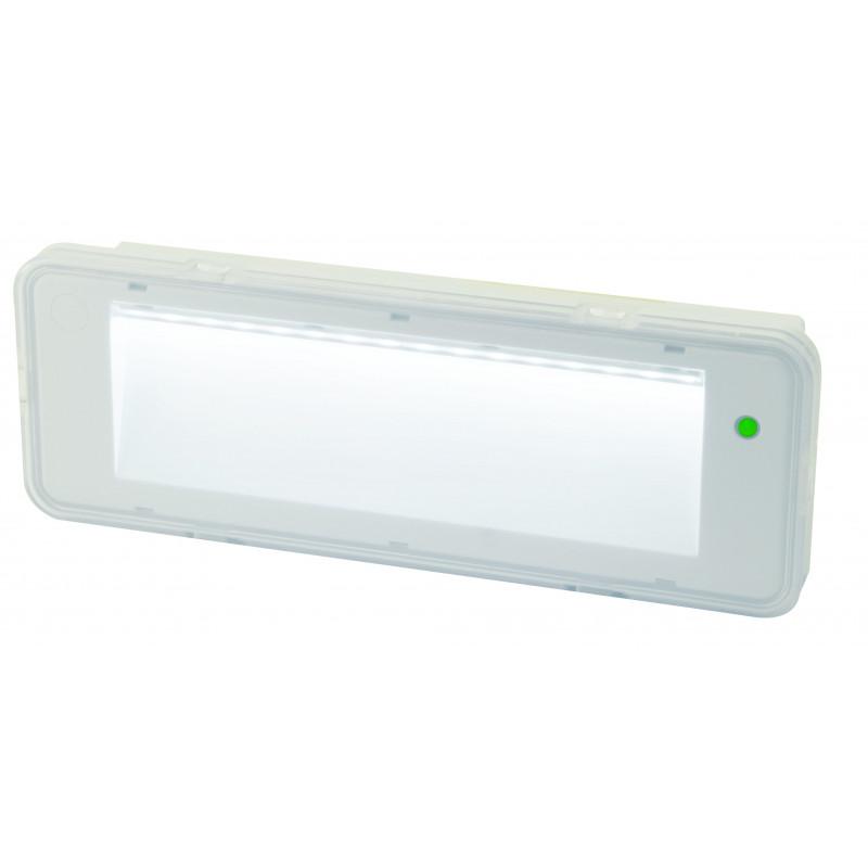Kandys luminaria emergencia led permanente 200 lumen autonomía 90 mn ip40