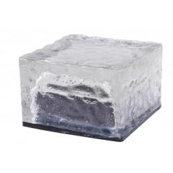 Icerock borne solaire en verre forme cube
