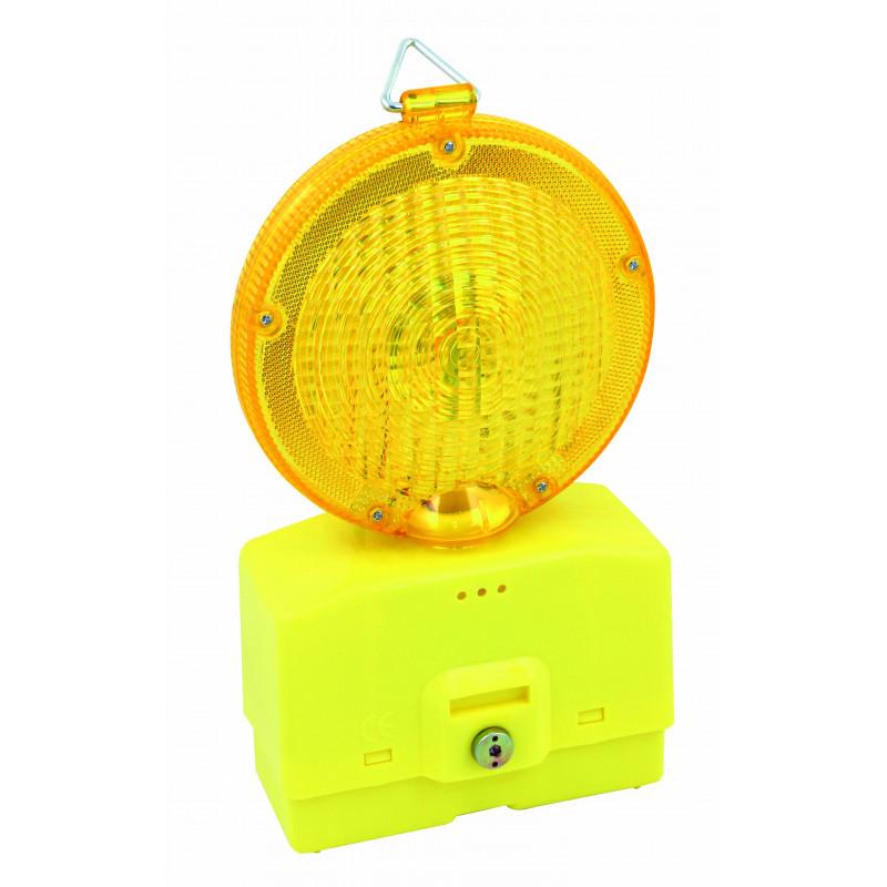 Lampe clignotante de chantier avec capteur crépusculaire fonctionne avec 2x 4r25 non incluses