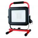 Light pad 2 baustellenstrahler led smd 50w ip54 schwarz 6500k mit kabel 18mt und 2 steckdosen