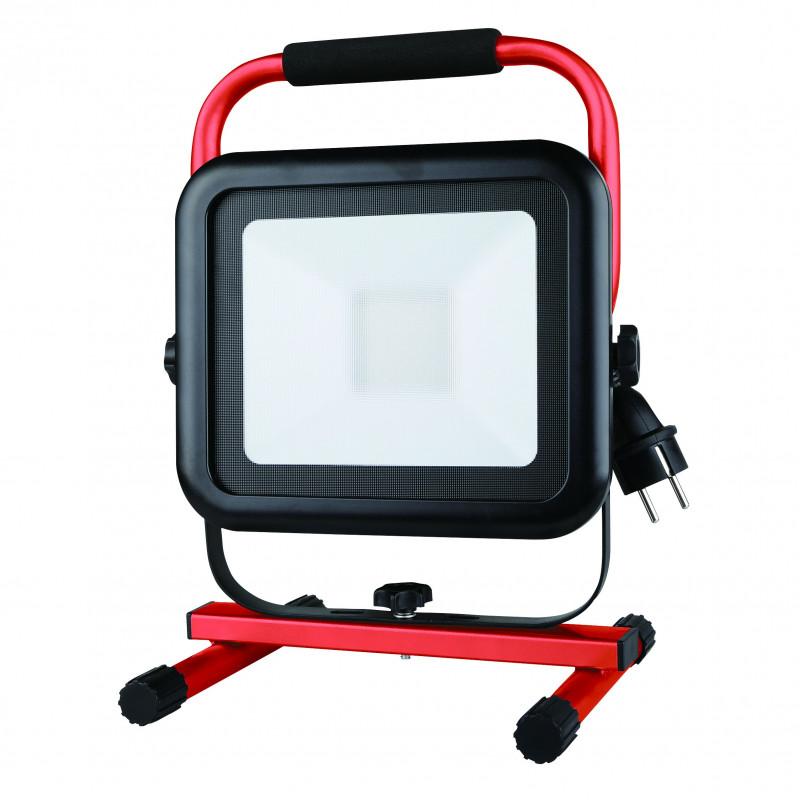 Light pad 2 lampara de obra led smd 50w ip54 color negro 6500k con cable 18mt y 2 tomas shuko