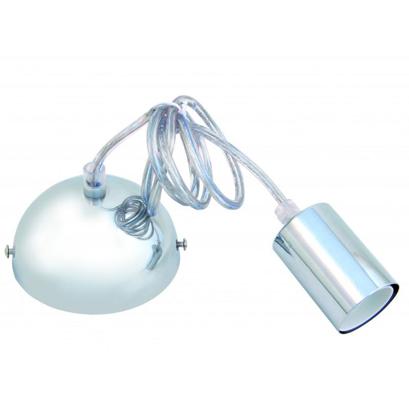 Lámpara de suspensión de silicona casquillo e27 cable 90 cm color metal cromado