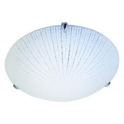 Vega plafonnier led intégrées 24w en verre diamètre 40cm