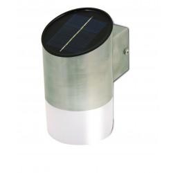 Applique led solare 20 lumen in acciaio. Con cds