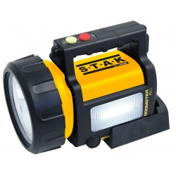 Doomster pro proyector recargable anti blackout led cree 5w 350 lumen+ lanterna lateral + luz color rojo lateral + power bank